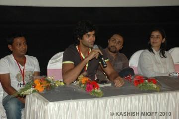 Onir, Purab Kohli, Rahul Bose & Manisha Koirala at Kashish Opening Ceremony