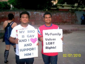 Brother supporting gay brother