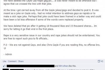 Gay rape joke