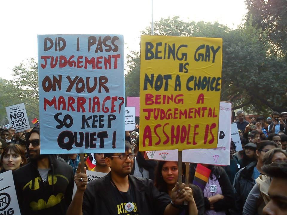 Protest in Delhi against Sec 377 on Dec 15th