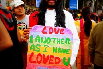 A participant in Bangalore Queer Pride 2013