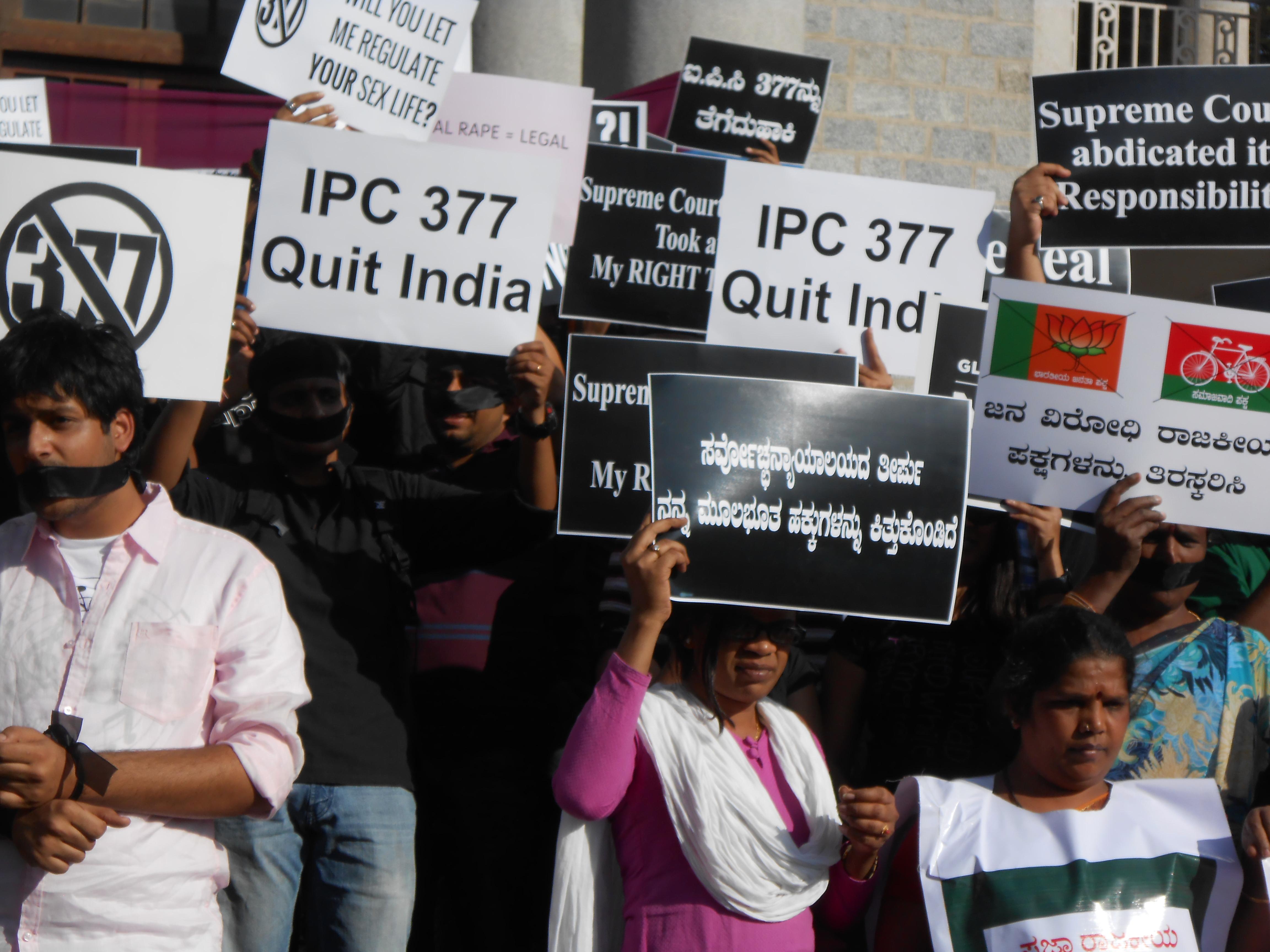 Sec 377, Bangalore, Global Day of Rage