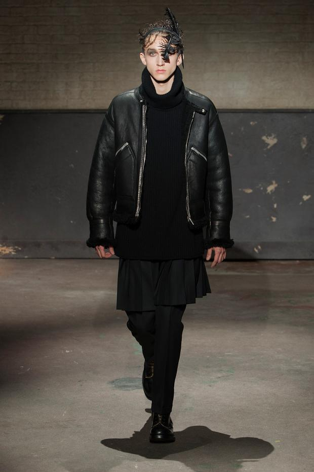 Balck leather jacket by mcqueen