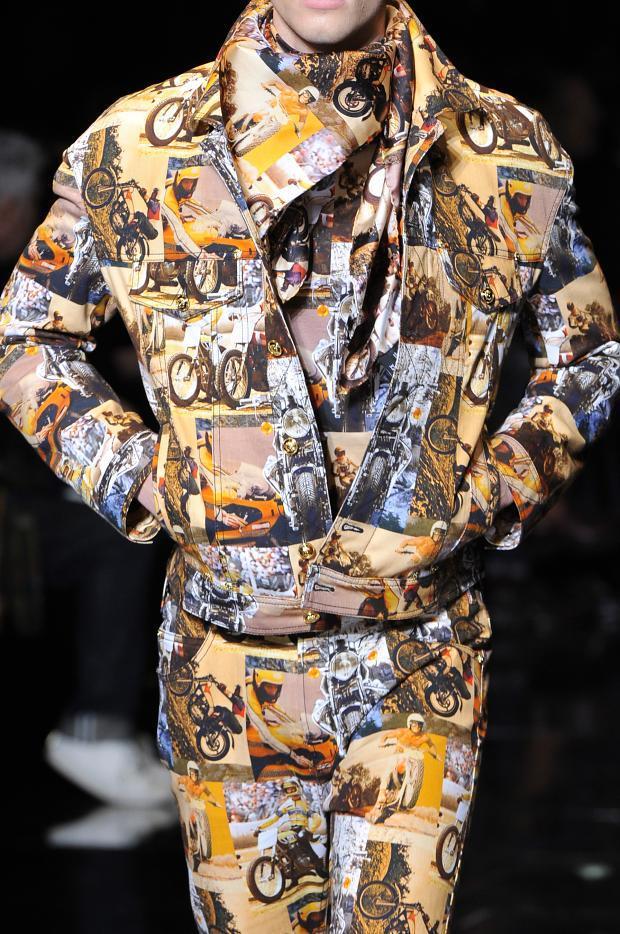 Motorcycle printed Suit at Versace