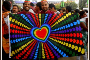 A Gay couple in Bangalore Pride 2013