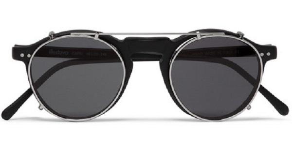 Illesteva Capri Detachable-Front Round-Framed Acetate Glasses