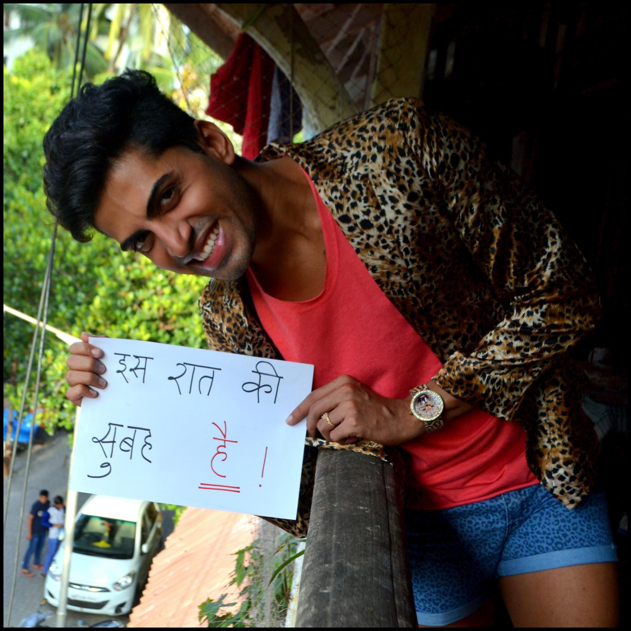सुशांत दिवगीकर, मिस्टर गे इंडिया २०१४। तस्वीर: सचिन जैन।