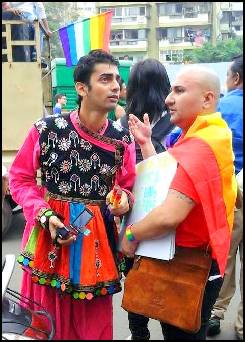 With Swagat (right) at Gujarat Pride