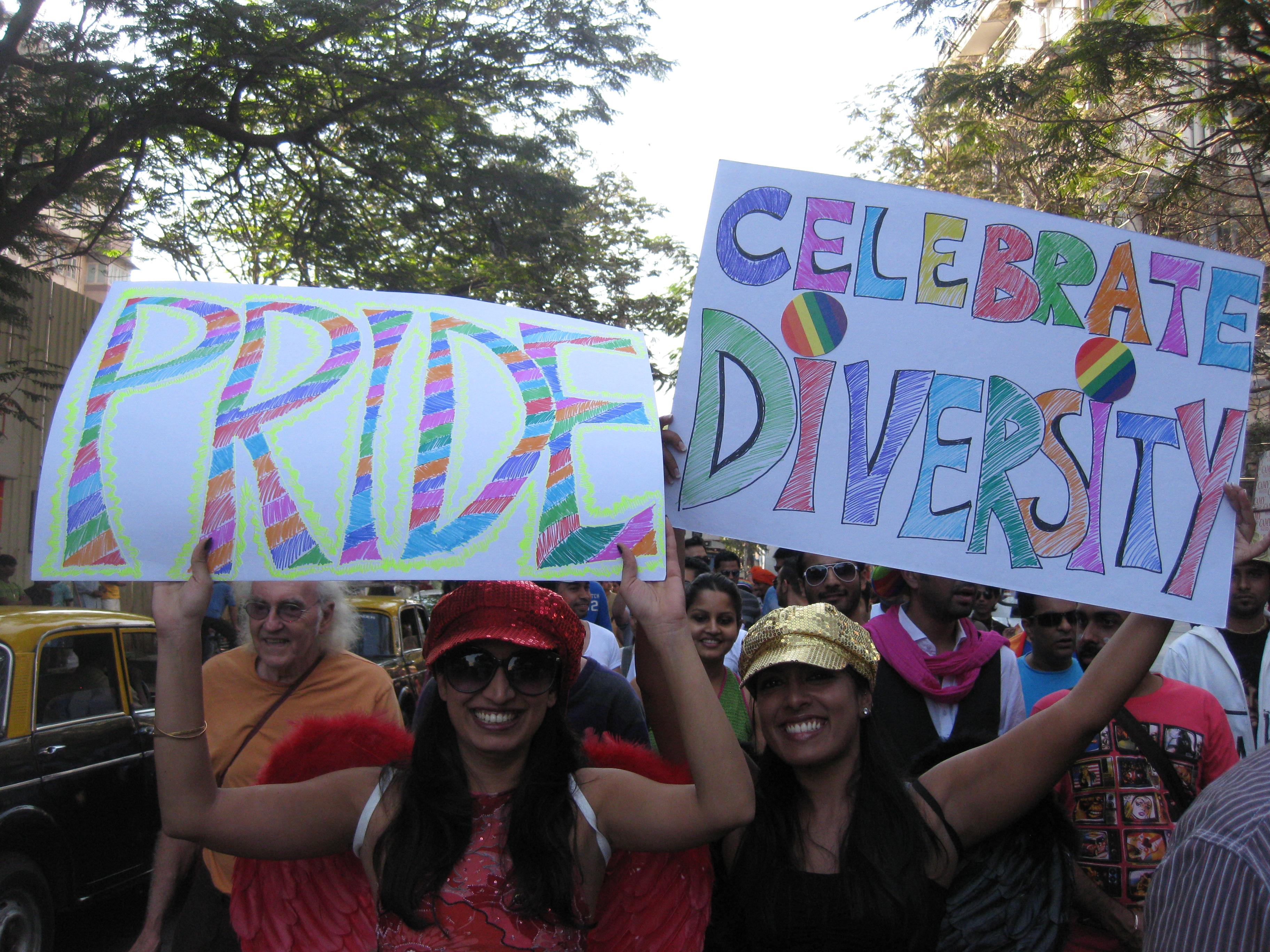 Participants at Queer Azadi Mumbai, 2012