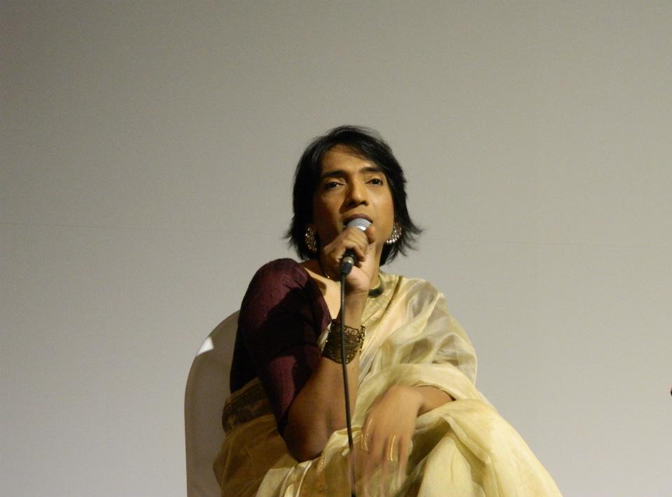 Filmmaker Pradipta Ray speaks at Rainbow Voices workshop