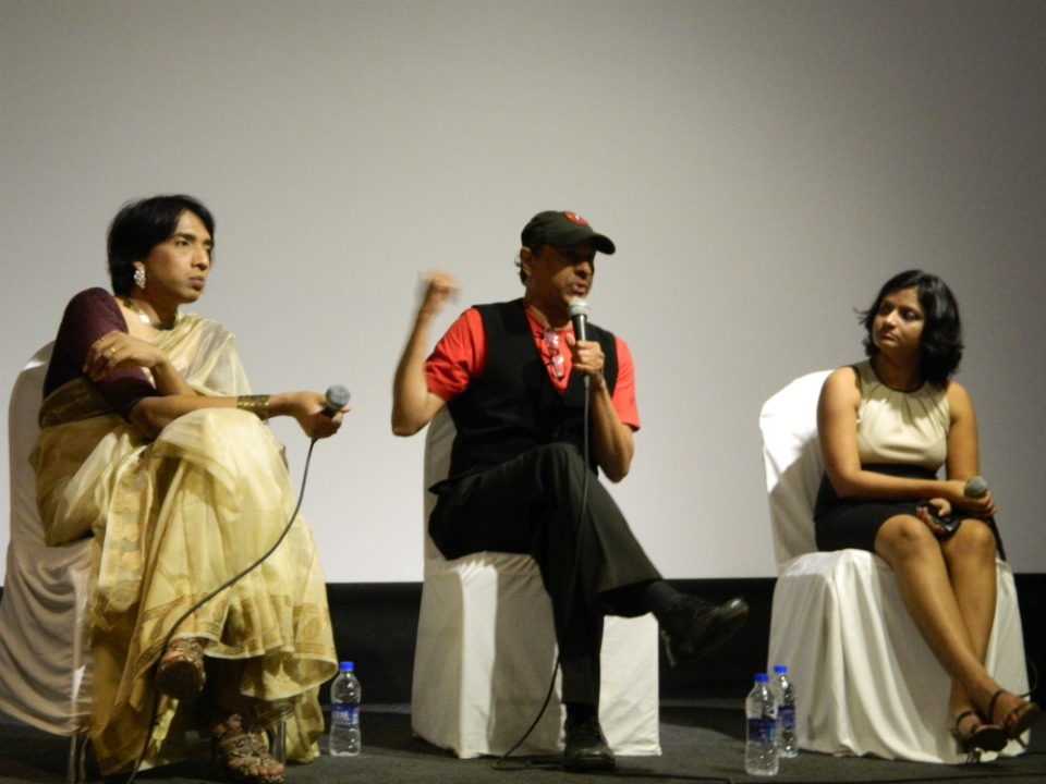Filmmaker Sridhar Rangayan speaks at Rainbow Voices workshop