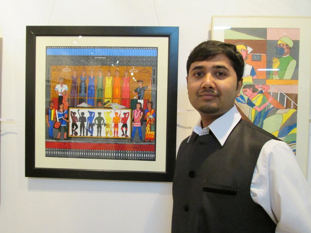 Anirban Ray and his painting