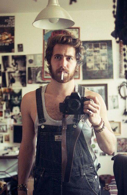 hot man smoking