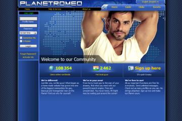 PlanetRomeo_login_webpage_screenshot