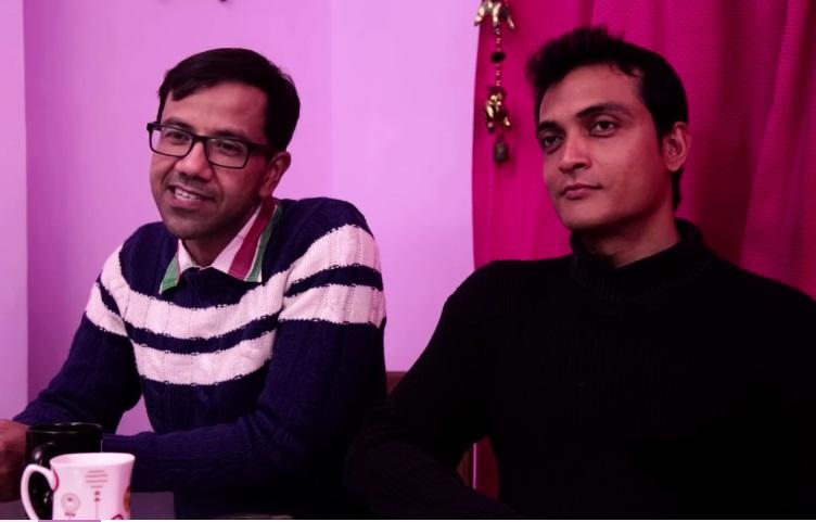 Himadri Roy (left) and his partner Shiv Sahoo