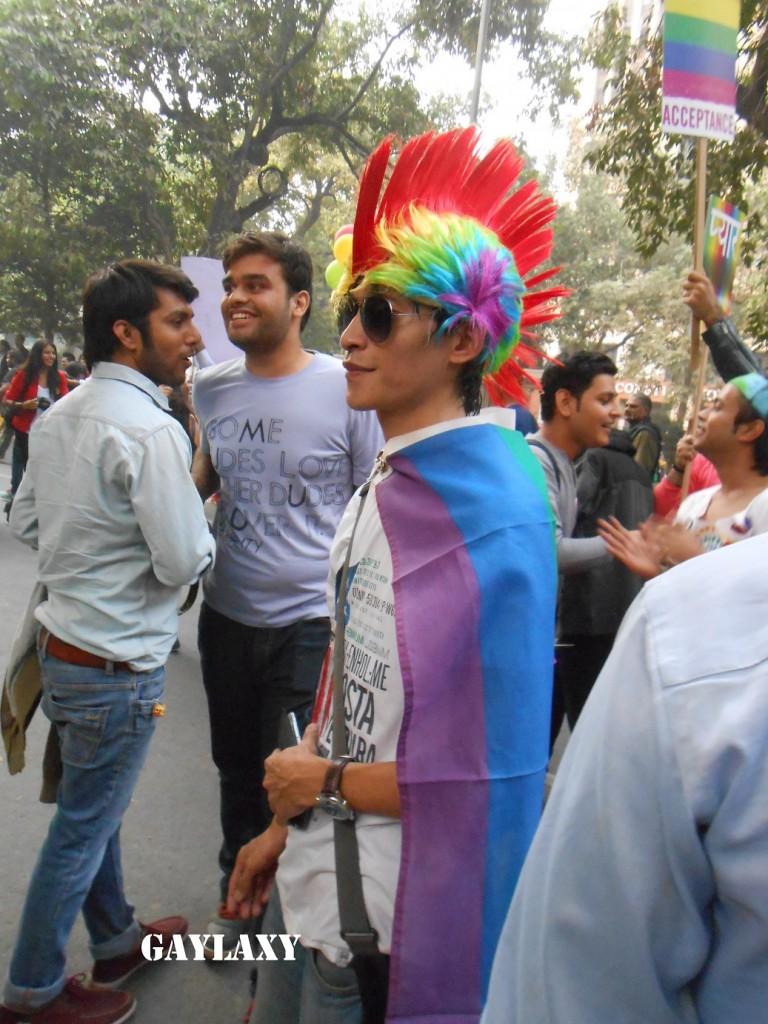 Delhi pride rainbow