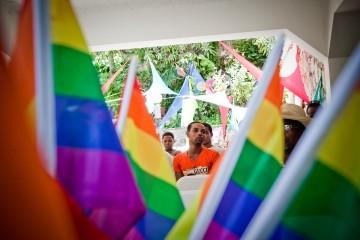 Anti-Homophobia day celebration at the Fondation Seroviein Port-au-Prince, Haiti. Photo by Katie Orlinsky