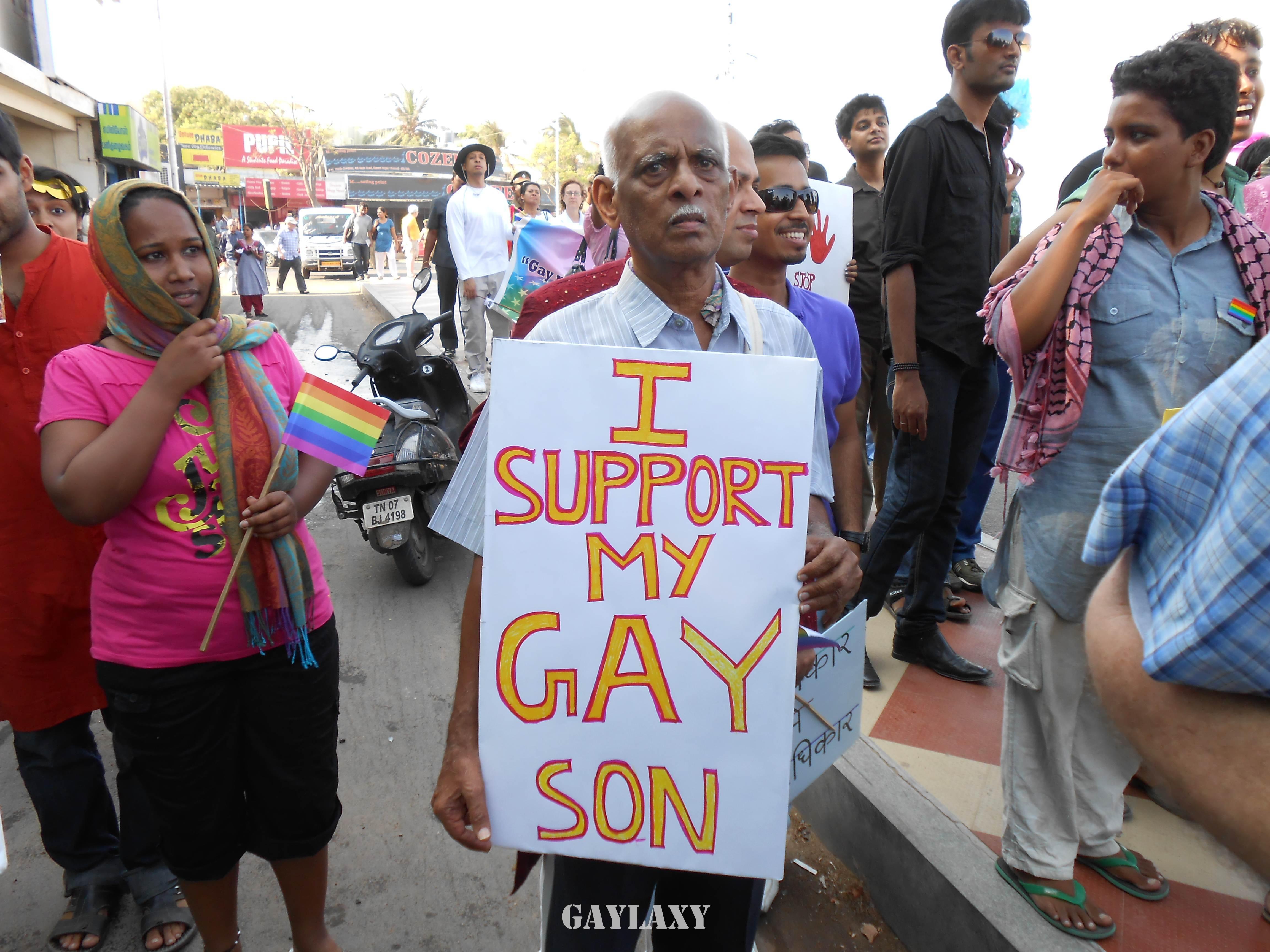 Gay son, father, chennai pride