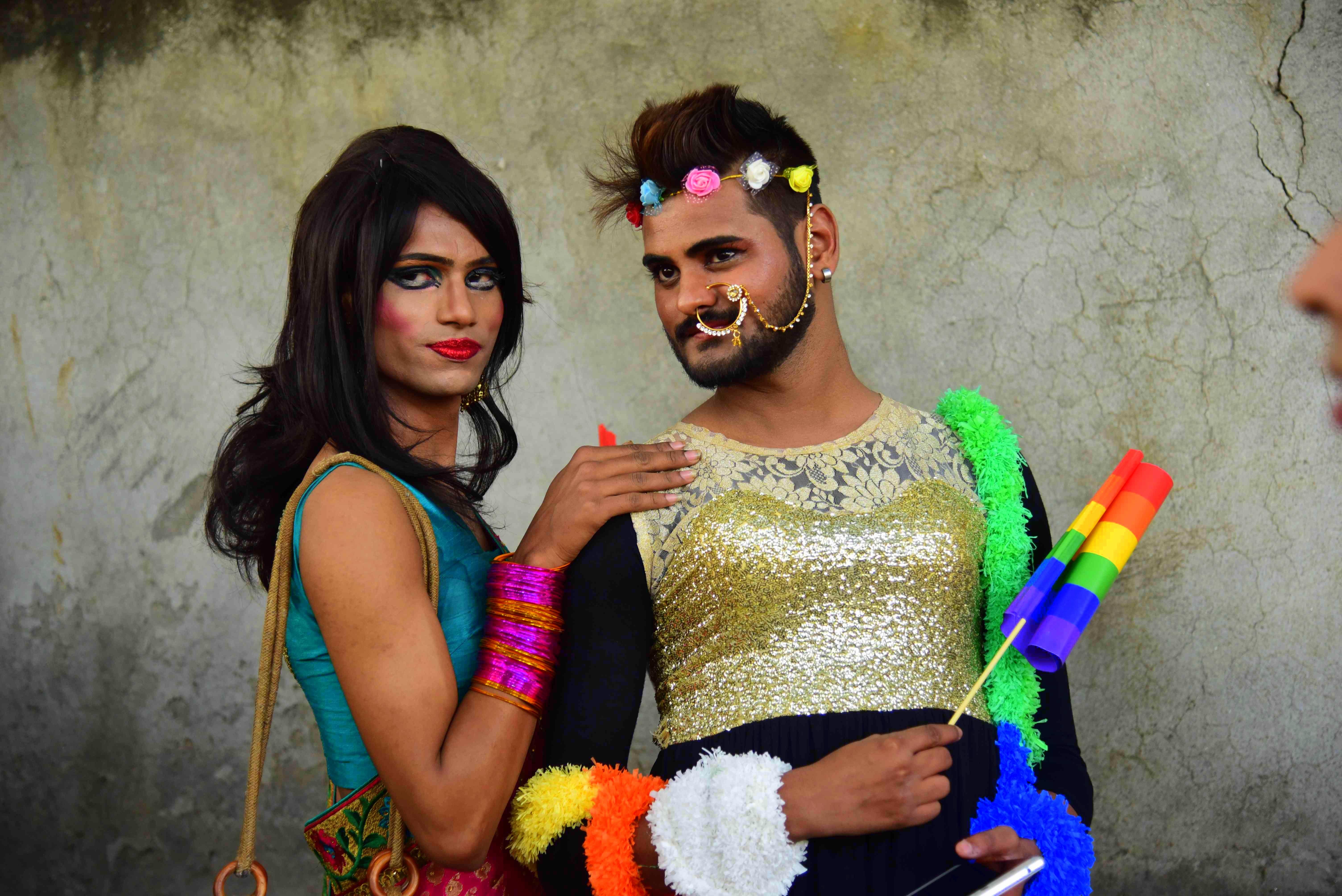 lgbt pride in india. delhi, gay pride march