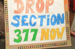 Section 377 protest poster