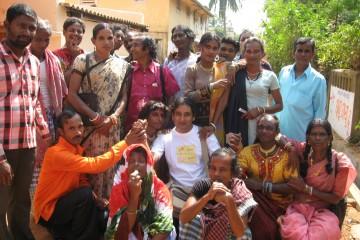 Amitava Sarkar in a camp