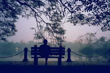 man, bench, idle,