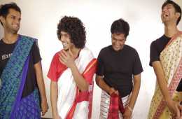 men wear saree