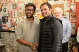 Rahul Gandhi with Gay student